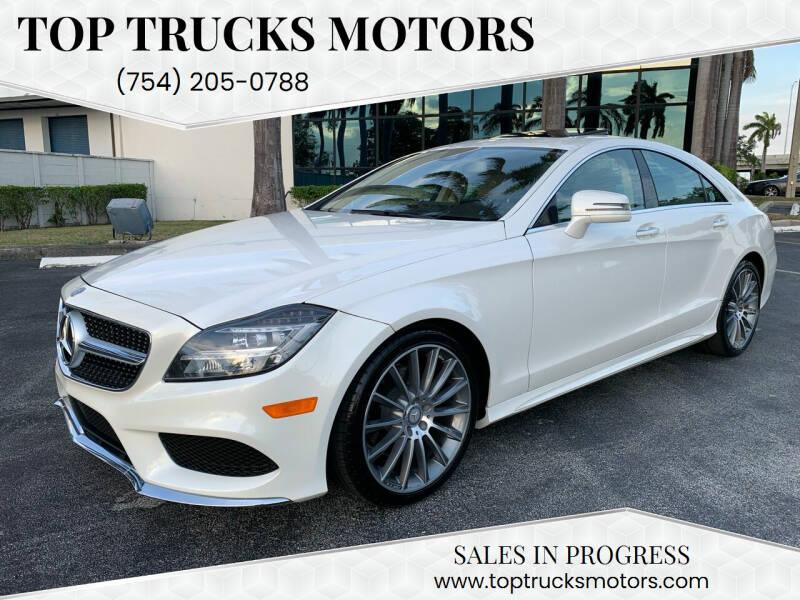 2016 Mercedes-Benz CLS for sale at Top Trucks Motors in Pompano Beach FL
