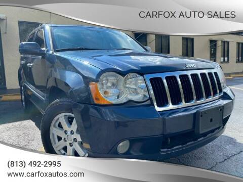 2010 Jeep Grand Cherokee for sale at Carfox Auto Sales in Tampa FL