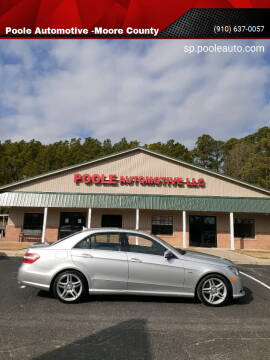 2012 Mercedes-Benz E-Class for sale at Poole Automotive -Moore County in Aberdeen NC