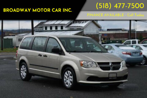 2014 Dodge Grand Caravan for sale at Broadway Motor Car Inc. in Rensselaer NY