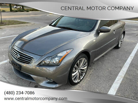 2013 Infiniti G37 Coupe for sale at Central Motor Company in Austin TX