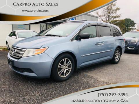 2013 Honda Odyssey for sale at Carpro Auto Sales in Chesapeake VA