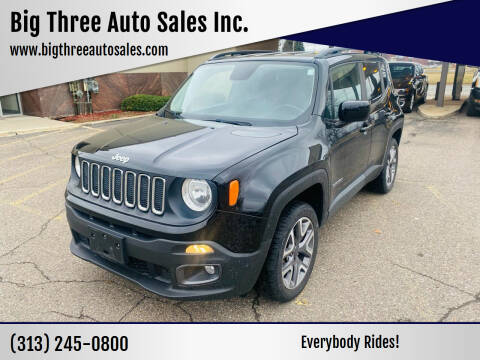 2017 Jeep Renegade for sale at Big Three Auto Sales Inc. in Detroit MI