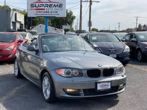 2011 BMW 1 Series for sale at Supreme Auto Sales in Chesapeake VA