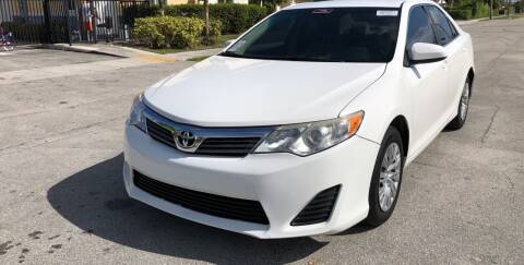 2012 Toyota Camry for sale at Eden Cars Inc in Hollywood FL