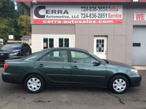 2003 Toyota Camry for sale at Cerra Automotive LLC in Greensburg PA