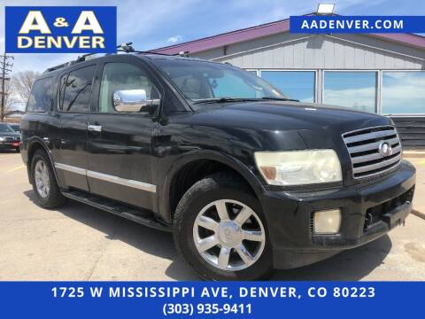 2006 Infiniti QX56 for sale at A & A AUTO LLC in Denver CO