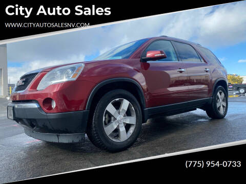 2011 GMC Acadia for sale at City Auto Sales in Sparks NV