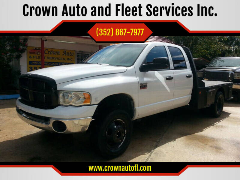 2008 Dodge Ram Chassis 3500 for sale at Crown Auto and Fleet Services Inc. in Ocala FL