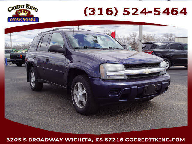 2008 Chevrolet TrailBlazer for sale at Credit King Auto Sales in Wichita KS