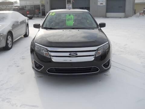 2012 Ford Fusion for sale at Shaw Motor Sales in Kalkaska MI