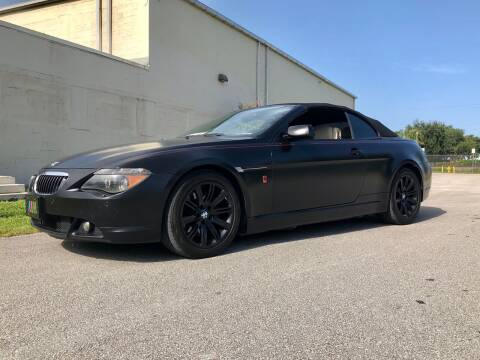 2006 BMW 6 Series for sale at American Classics Autotrader LLC in Pompano Beach FL