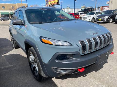 2014 Jeep Cherokee for sale at New Wave Auto Brokers & Sales in Denver CO