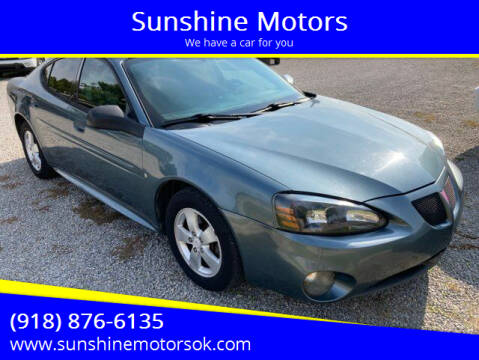 2006 Pontiac Grand Prix for sale at Sunshine Motors in Bartlesville OK