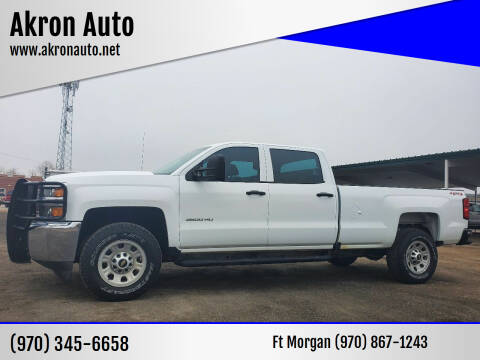 2016 Chevrolet Silverado 3500HD for sale at Akron Auto in Akron CO