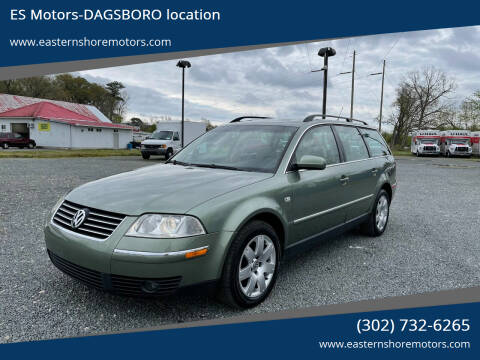 2003 Volkswagen Passat for sale at ES Motors-DAGSBORO location in Dagsboro DE