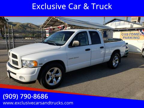 2003 Dodge Ram Pickup 1500 for sale at Exclusive Car & Truck in Yucaipa CA