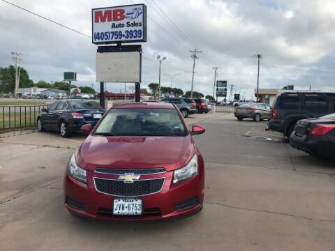 2011 Chevrolet Cruze for sale at MB Auto Sales in Oklahoma City OK