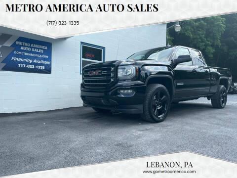 2018 GMC Sierra 1500 for sale at METRO AMERICA AUTO SALES of Lebanon in Lebanon PA