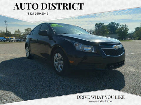 2014 Chevrolet Cruze for sale at Auto District in Baytown TX