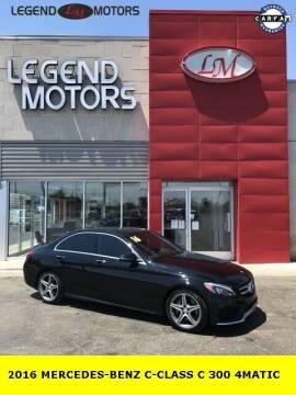 2016 Mercedes-Benz C-Class for sale at Legend Motors of Ferndale in Ferndale MI