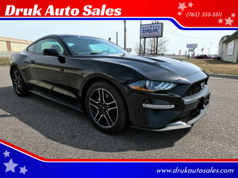 2020 Ford Mustang for sale at Druk Auto Sales in Ramsey MN