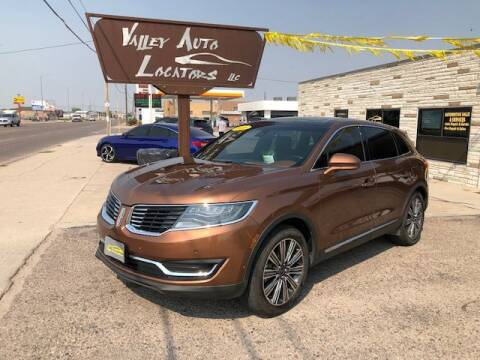 2016 Lincoln MKX for sale at Valley Auto Locators in Gering NE