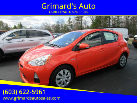 2012 Toyota Prius c for sale at Grimard's Auto in Hooksett, NH
