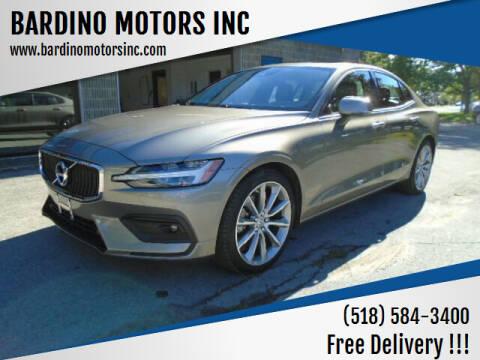 2021 Volvo S60 for sale at BARDINO MOTORS INC in Saratoga Springs NY