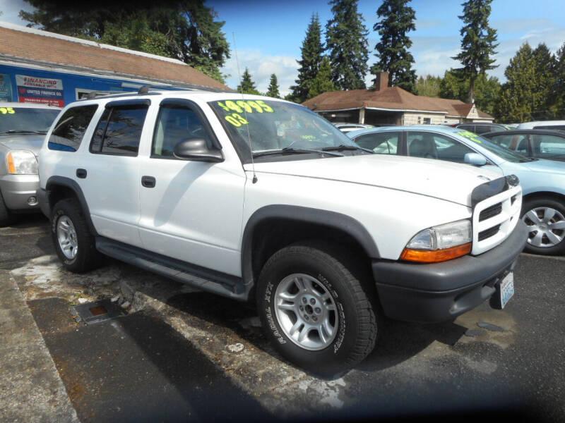 2003 Dodge Durango for sale at Lino's Autos Inc in Vancouver WA