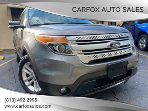 2014 Ford Explorer for sale at Carfox Auto Sales in Tampa FL