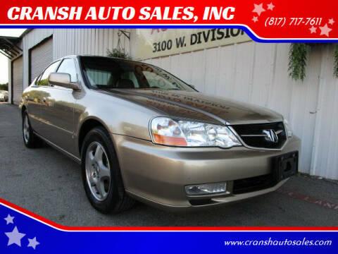 2003 Acura TL for sale at CRANSH AUTO SALES, INC in Arlington TX