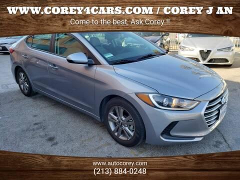 2017 Hyundai Elantra for sale at WWW.COREY4CARS.COM / COREY J AN in Los Angeles CA