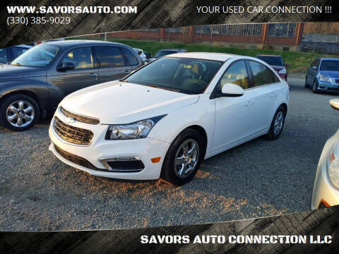 2015 Chevrolet Cruze for sale at SAVORS AUTO CONNECTION LLC in East Liverpool OH
