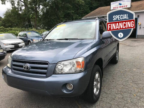 2007 Toyota Highlander for sale at VERNON MOTOR CARS in Vernon Rockville CT