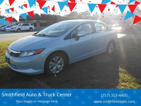 2012 Honda Civic for sale at Smithfield Auto & Truck Center in Smithfield VA