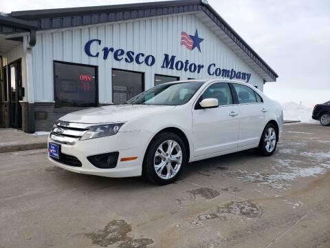 2012 Ford Fusion for sale at Cresco Motor Company in Cresco IA