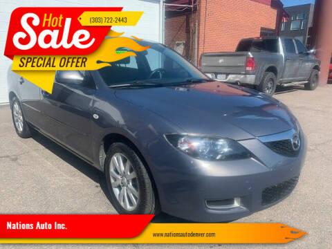 2008 Mazda MAZDA3 for sale at Nations Auto Inc. in Denver CO