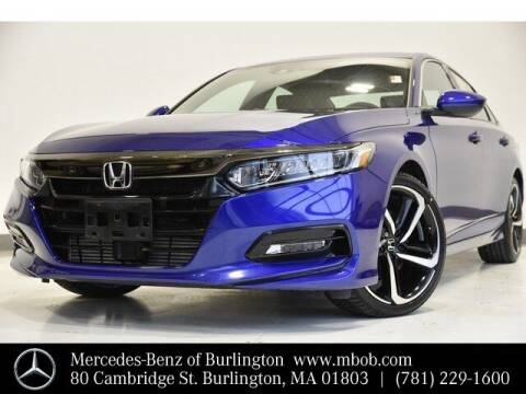 2018 Honda Accord for sale at Mercedes Benz of Burlington in Burlington MA