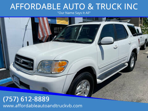 2002 Toyota Sequoia for sale at AFFORDABLE AUTO & TRUCK INC in Virginia Beach VA