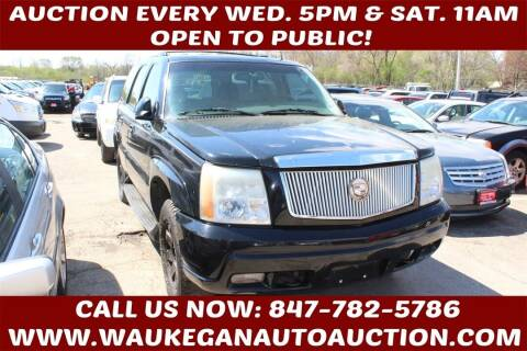 2002 Cadillac Escalade for sale at Waukegan Auto Auction in Waukegan IL