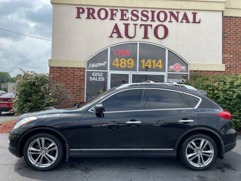 2012 Infiniti EX35 for sale at Professional Auto Sales & Service in Fort Wayne IN