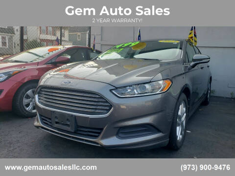 2013 Ford Fusion for sale at Gem Auto Sales in Irvington NJ