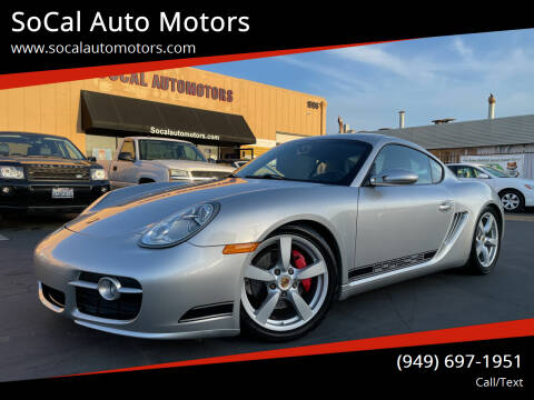 2007 Porsche Cayman for sale at SoCal Auto Motors in Costa Mesa CA