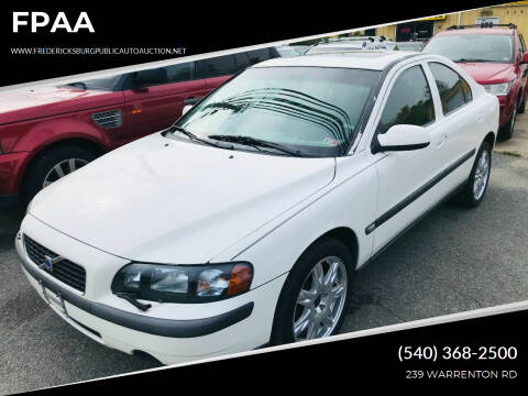 2002 Volvo S60 for sale at FPAA in Fredericksburg VA
