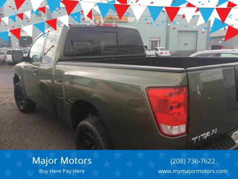 2004 Nissan Titan for sale at Major Motors in Twin Falls ID