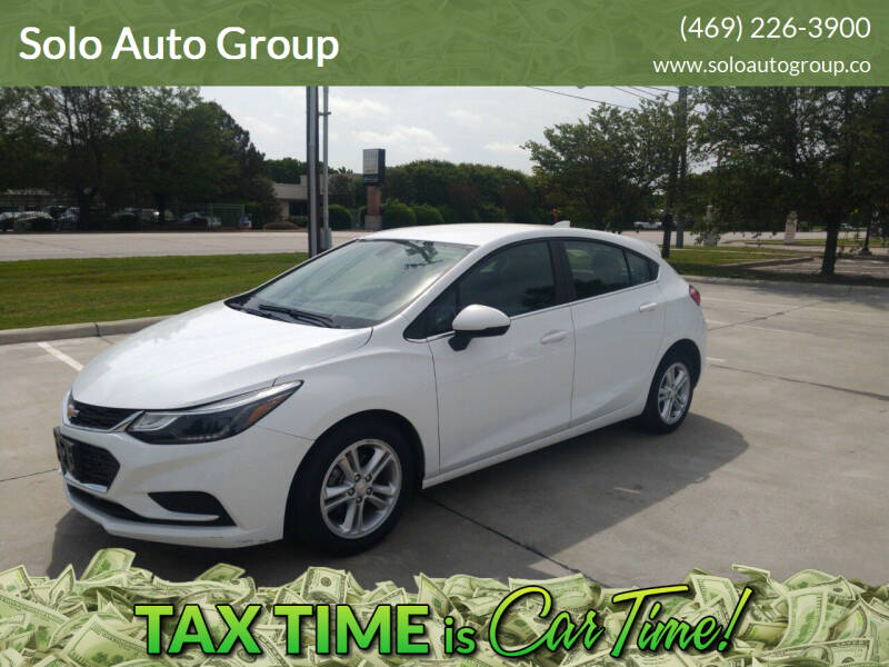 2018 Chevrolet Cruze for sale at Solo Auto Group in Mckinney TX