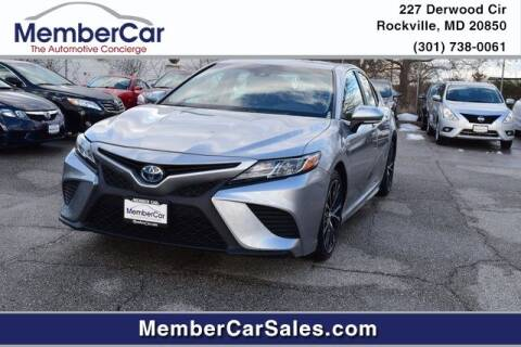 2018 Toyota Camry Hybrid for sale at MemberCar in Rockville MD