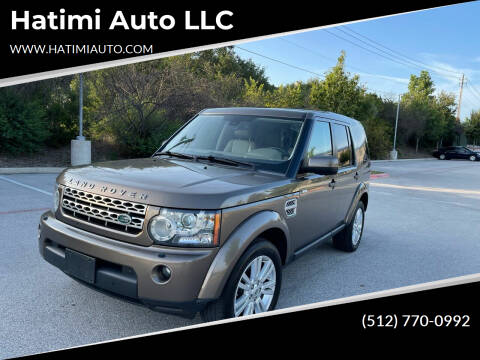 2011 Land Rover LR4 for sale at Hatimi Auto LLC in Austin TX