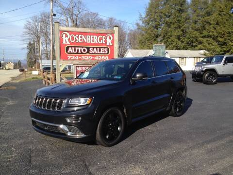 2016 Jeep Grand Cherokee for sale at Rosenberger Auto Sales LLC in Markleysburg PA